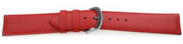 Smooth Leather Watch Band / Quick Release Red