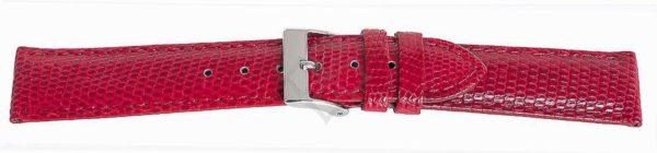 Red Short Lizard Watch Band