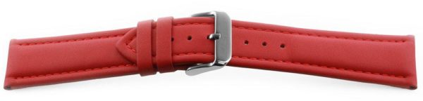 Smooth Leather Watch Band / Water Resistant Red