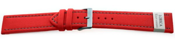 Genuine-Leather-Watch-Band-Microfiber-Red