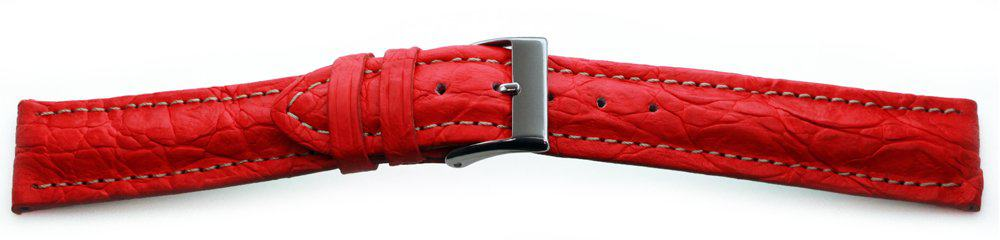Genuine-Crocodile-Watch-Band-Red