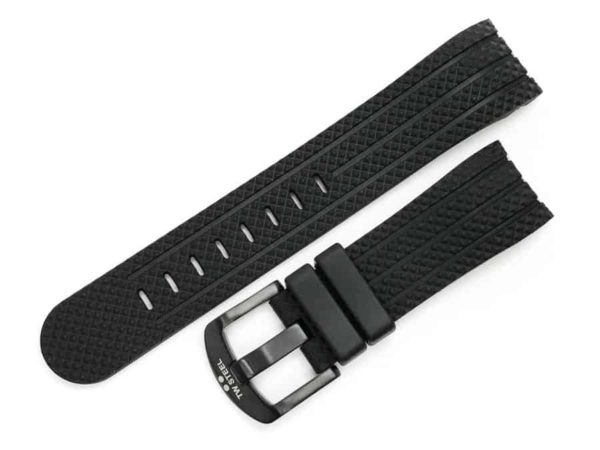 Replacement 22mm Black Rubber Strap for TW Steel