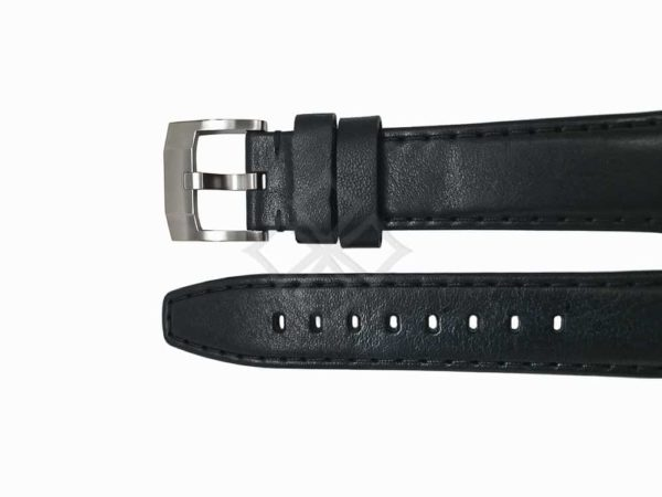 Swiss Made Black Leather watch for Rolex Sport models in 20mm by Everest Bands