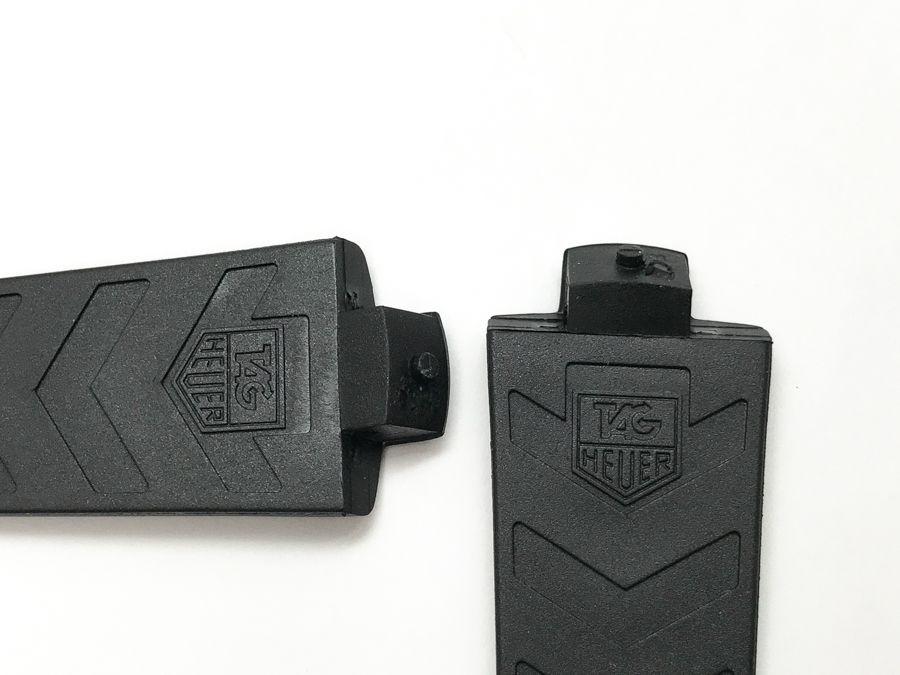 Tag Heuer Kirium TG6000 black rubber watch band