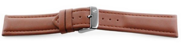 Smooth Leather Watch Band / Water Resistant Tan