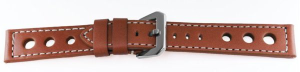 Sport Leather Watch Band Tan