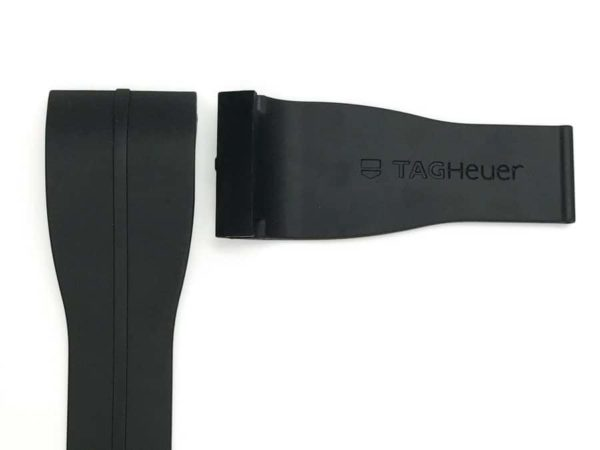 TG003 Tag Heuer Microtimer Black Rubber Strap