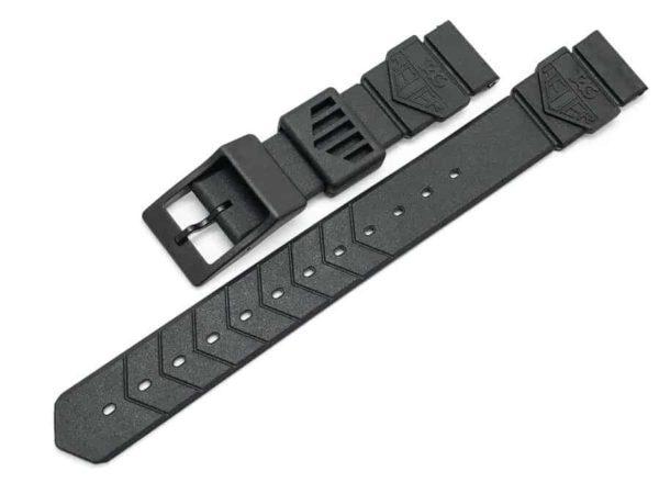 TG081 - Tag Heuer Formula 1 18mm Black Plastic Strap - BS0081