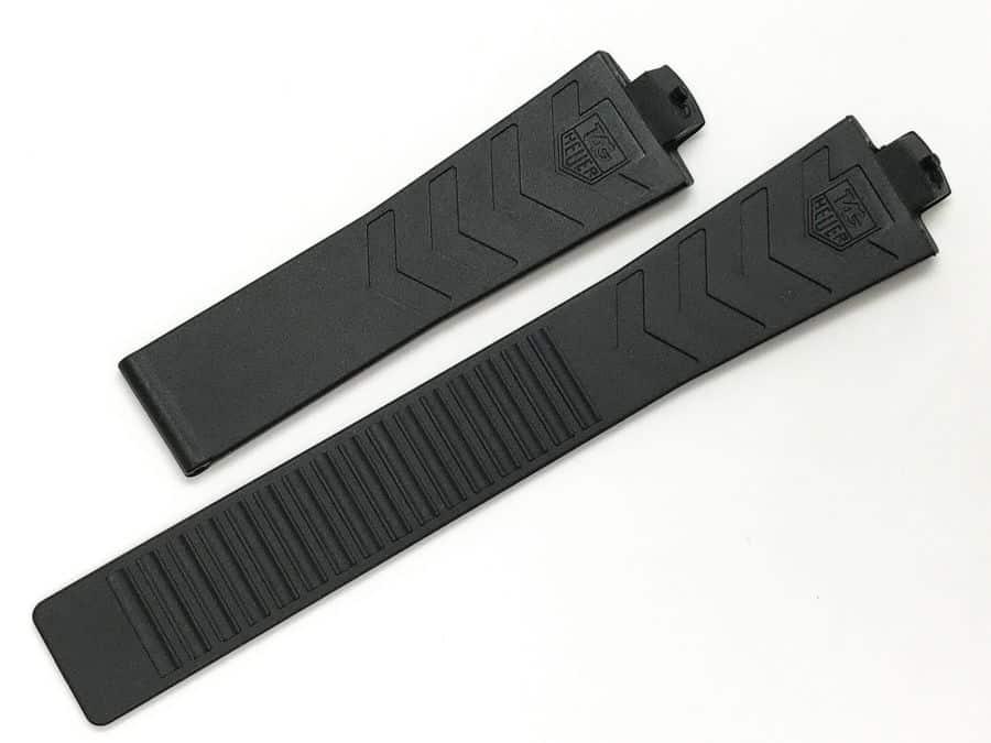 TG600 - Tag Heuer Kirium  Black Rubber Strap