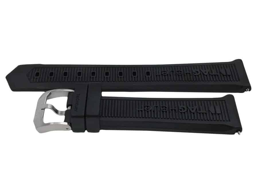 TG717 8inch long black rubber band for tag heuer formula 1 TG717