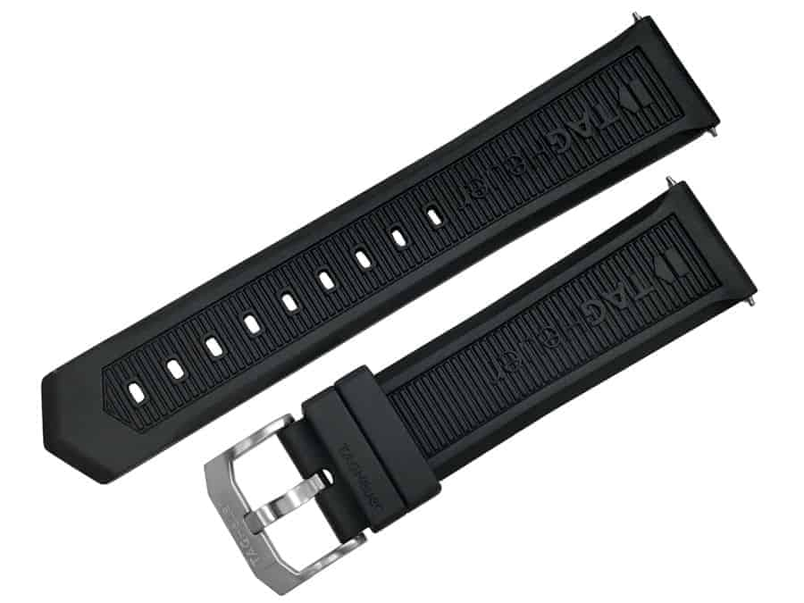 TG717 Replacement Black Rubber strap for Tag Heuer Formula 1 CAH1010 TG717