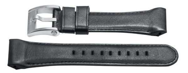 tw steel 30mm Long black leather watch band - ceb3005