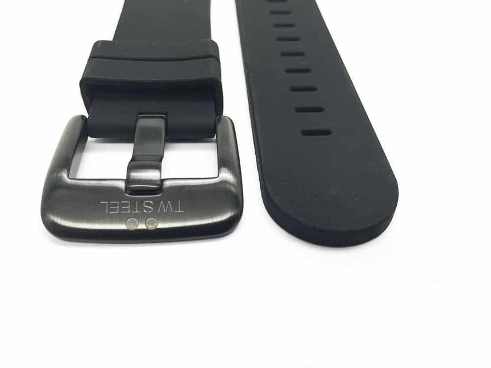TW Steel Canteen 24mm band with black pvd tongue buckle
