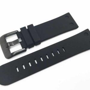 TW Steel Canteen 22mm black silicone band - TWB583