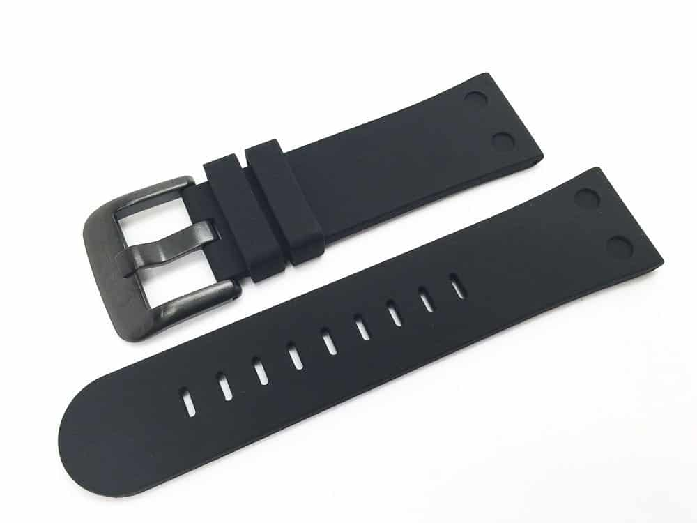 TW Steel Canteen 24mm black silicone band - TWB583