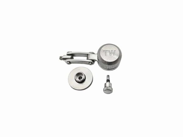TW Steel Replacement Silver Tone Crown for 45mm Canteen Models