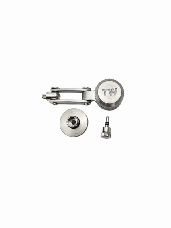 TW Steel Replacement Silver Tone Crown for 50mm Canteen Models