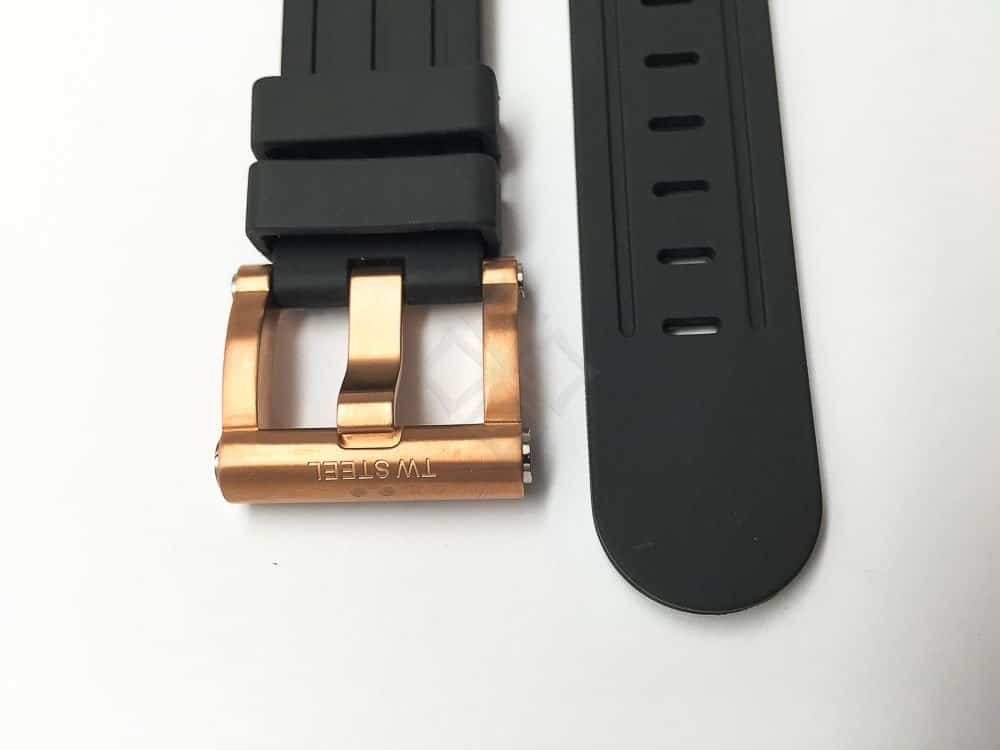 20mm tw steel rose gold toned buckle