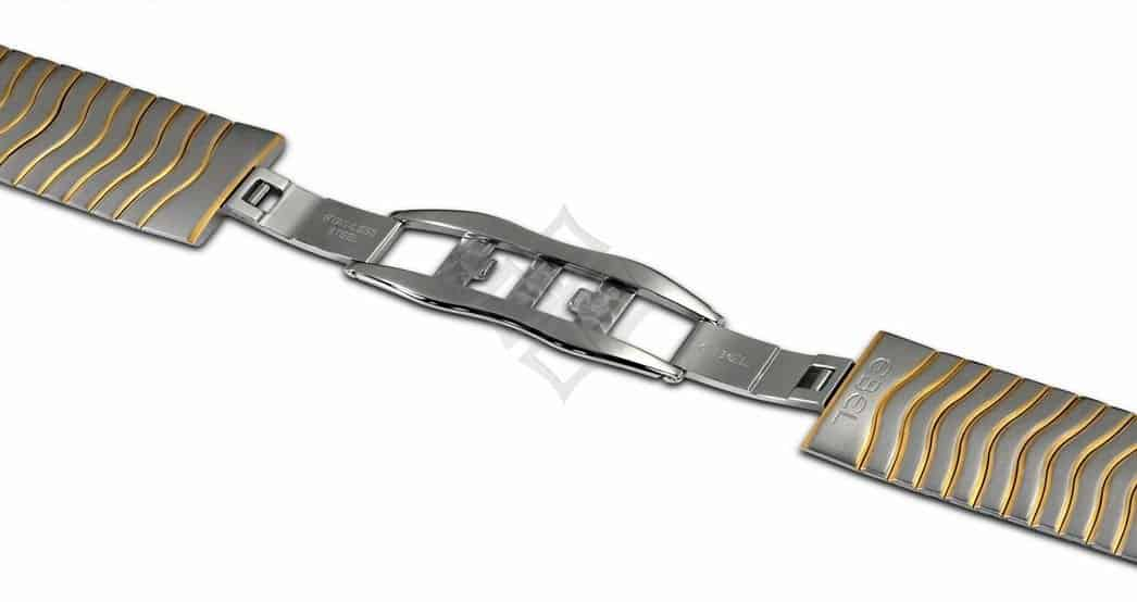 Two Tone Ebel bracelet with a stainless steel double deployment buckle - EB447
