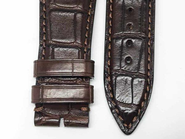 unb24gwb - Ulysse Nardin Brown Alligator - 24mm 3