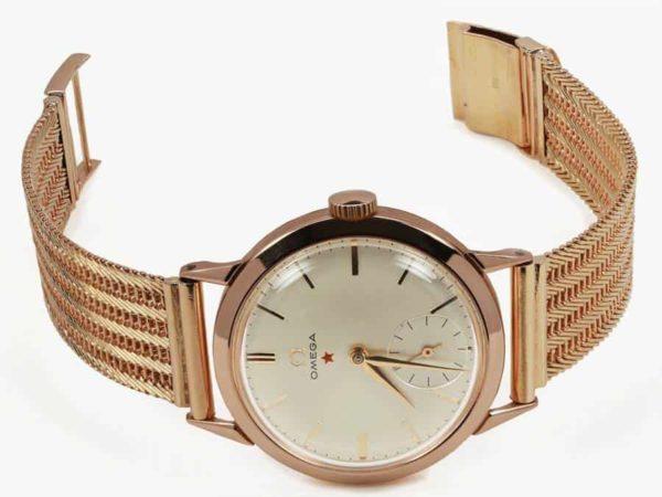 Vintage-18k-YG-Omega-Watch