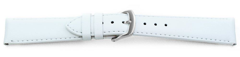 Smooth Leather Watch Band / Quick Release White