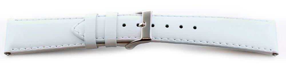 Glossy Leather Watch Band /  Short - Quick Release White