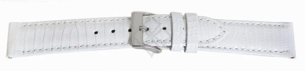 White Short Lizard Watch Bands