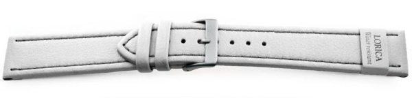 Genuine-Leather-Watch-Band-Microfiber-White