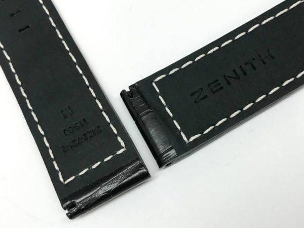 zen22wb - Zenith Dark Brown Alligator 2422-721-2 3