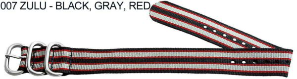 James Bond Nylon Zulu - black, gray, red