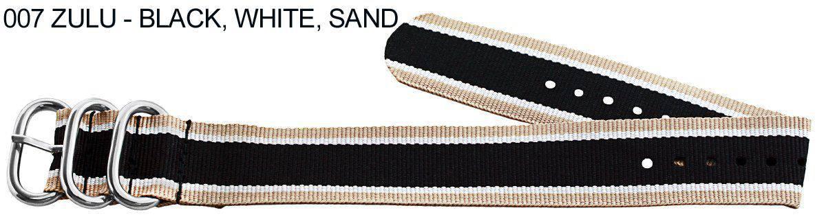 James Bond Nylon Zulu - black, white, sand
