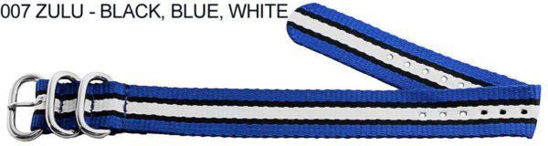 James Bond Nylon Zulu - black, blue, white