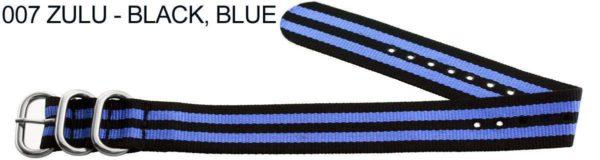 James Bond Nylon Zulu - black, blue