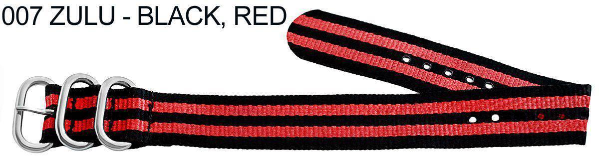 James Bond Nylon Zulu - black, red