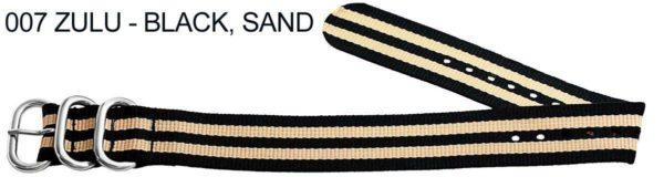 James Bond Nylon Zulu - black, sand