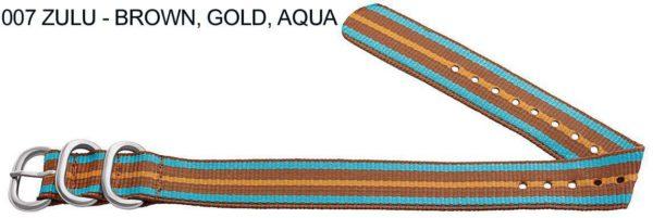James Bond Nylon Zulu - brown, gold, aqua