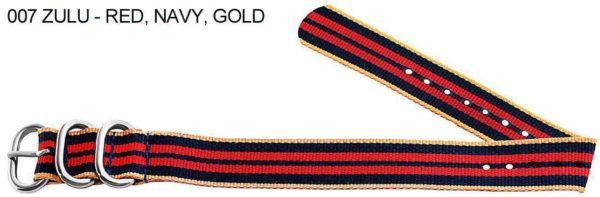 James Bond Nylon Zulu - red, navy, gold