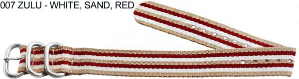 James Bond Nylon Zulu - white, sand, red