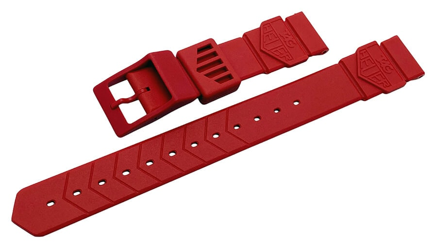 Original F1 Tag Heuer red plastic watch band