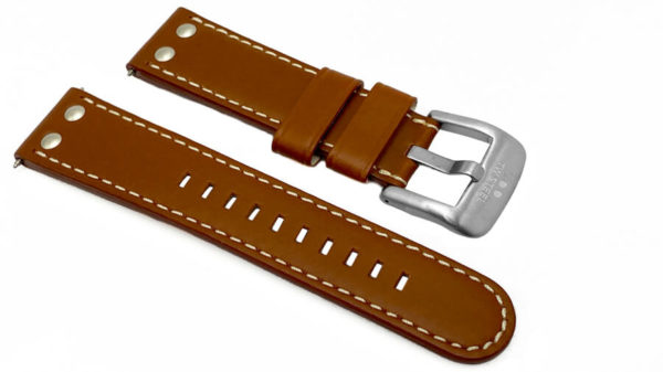 TW Steel tan leather band